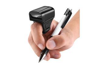 2D Wearable Ring Barcode Scanner/ Mini Portable 3-in-1 USB Wired & 2.4G Wireless & Bluetooth Bar Code Reader/ Image 1D QR Scanner PDF417 Data Matrix Screen Scanning /  iPad/ iPhone/ Android/ PC