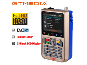 "GTMedia V8 Satellite Finder Meter DVB-S2/S2X Digital Signal Sat Finder 3.5"" LCD"