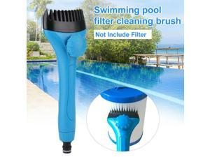Mini Handheld Swimming Pool Filter Cleaner Cleaning Brush Hot Tub Spa Pond Pool Filter Cleaner Swimming Pool Cleaning Accessory