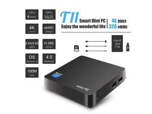 MINI PC Win10 Intel Atom Z8350 1.92GHz 4GB RAM Linux HDMI VGA USB3.0 2.5 inch HDD DDR3 Fanless Mini Computer Pocket PC