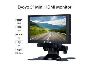 """5"""" Car RearView Monitor with HDMI VGA BNC Port Home Security Fast Ressptonse"""