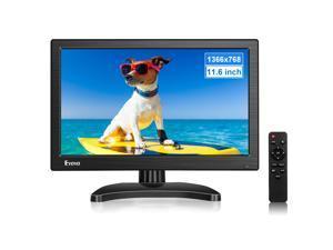 "Eyoyo Portable Small HDMI Monitor 12"" LCD Monitor 1366x768 w/HDMI VGA BNC AV Inputs Built-in Speaker"