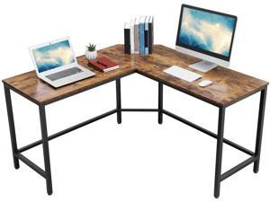 Computer desk L-Shaped corner writing desk, Space-Saving study desk, Gaming desk for office easy to assemble, Rustic Brown