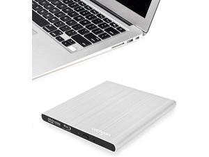 SEA TECH Aluminum External USB Blu-Ray Writer Super Drive for Apple MacBook Air, Pro, iMac