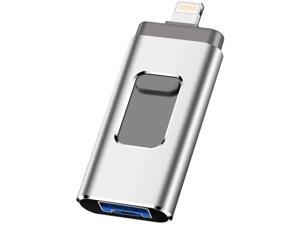 Phone Flash Drive for Photo Stick 1TB Memory Stick USB 3.0 Flash Drive Thumb Drive for Phone and Computers(Silver)
