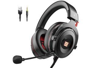 E900 USB Gaming Headset-Xbox One Headset with 7.1 Surround Sound, PS4 Headset Noise Cancelling Headset with Mic&LED Light, Compatible with PC, PS4, Xbox One Controller, Nintendo Switch