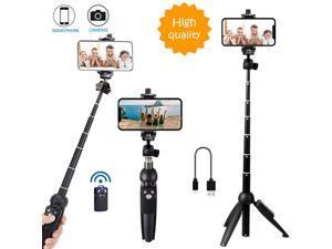 All in one Portable 40 Inch Aluminum Alloy Selfie Stick Phone Tripod with Wireless Remote Shutter for iPhone 11 pro Xs Max Xr X 8 7 6 Plus, Android Samsung Smartphone Vlogging Live Stream