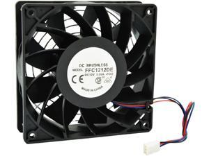 12cm 120mm 200CFM 4000RPM CPU Cooling Fan FFC1212DE 12V DC 3-Pin 3-Wire PC Computer High CFM Cooling Case Fan with Metal Finger Guard Grill