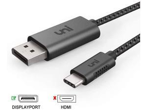 CABLEDECONN USB C to DisplayPort 1.4 8K 3M Cable with USB-C PD 8K@60Hz 4K@144Hz Converter Thunderbolt 3 to DisplayPort Adapter Compatible with New MacBook Pro 2019 2020 DELL XPS