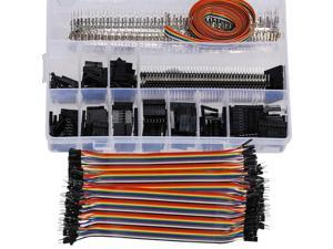 JF/F IDE Balance Connector Extension Wire Ribbon Cable Line IDE Ribbon Cable 20cm 40-pin Power Connector Splitter Copper Conductor Adapter Breadboard DIY 2Pcs
