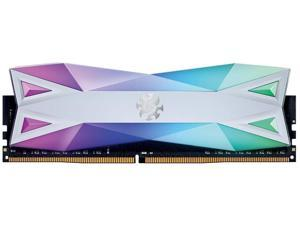 XPG DDR4 D60G RGB 16GB (2x8GB) 3200MHz PC4-25600 U-DIMM CL16-20-20 Desktop Memory Kit White (AX4U320038G16A-DW60)
