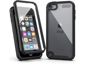 iPod Touch 7 Case,iPod Touch 6 Case, Armor Shockproof Case with Build in Screen Protector Heavy Duty Shock Resistant Hybrid Rugged Cover for Apple iPod Touch 5/6/7th Generation-Black