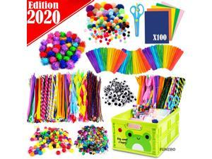 Arts and Crafts Supplies Kit for Kids - Craft Art Supply Kit for Toddlers Age 4 5 6 7 8 9 - All in One D.I.Y. Crafting Collage Arts Set for Kids (Mega)