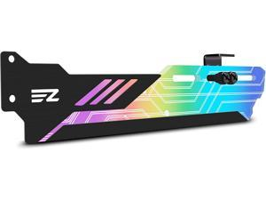 RGB GPU Holder 5V 3-Pin Colorful RGB Graphics Card GPU Support Video Card Holder Bracket, Video Card Sag Holder/Holster Bracket- 309-1
