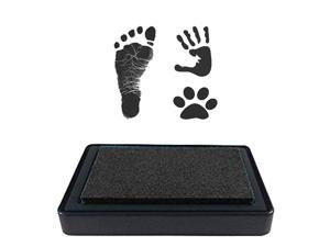 Ink Pad for Baby Footprint, Baby Handprint, Paw Print Pad, Create Impressive Keepsake Stamp, Non-Toxic Ink pad, Perfect Baby Shower Registry Gift for Boys and Girls (Black)