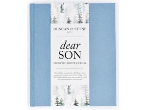 Dear Son: A Prompted Prayer Journal & Childhood Keepsake Baby Memory Book - Blue