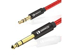 3.5mm to 6.35mm TRS Stereo Audio Cable??6.35 1/4 Male to 3.5 1/8 Male Aux Jack for iPod, Laptop,Home Theater Devices, and Amplifiers (5m/15ft)