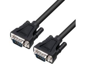 DTECH 15ft DB9 Serial Cable COM Port Male to Male RS232 Straight Through 9 Pin Data Cord