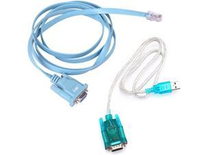 USB to Serial Interface Cable with Serial to RJ45 Console Adapter Cable for Cisco Routers