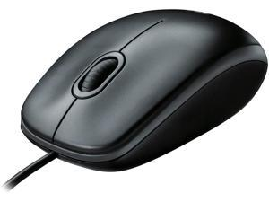 Corded Mouse – Wired USB Mouse for Computers and laptops, for Right or Left Hand Use, Black
