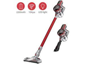 Cordless Stick Vacuum with LED Panel Stick Vacuum Cleaner for Hard Floor,Carpet//Rug,Pet Hair Two Batteries,Lake Blue JASHEN V18 Cordless Stick Vacuum Cleaner