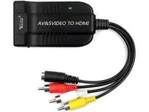 Wiistar Male AV CVBS Female SVIDEO to Female HDMI Audio Video Converter 1080P Composite Adapter for Blu-ray DVD HDTV