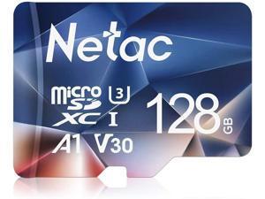 128GB Micro SD Card microSDXC UHS-I Memory Card - 100MB/s 667X U3 Class10 Full HD Video V30 A1 FAT32 High Speed Flash TF Card P500 for Smartphone/Bluetooth Speaker/Tablet/PC/Camera