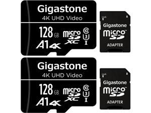 128GB 2-Pack Micro SD Card 4K UHD Video Surveillance Security Cam Action Camera Drone Professional 95MB/s Micro SDXC UHS-I A1 Class 10