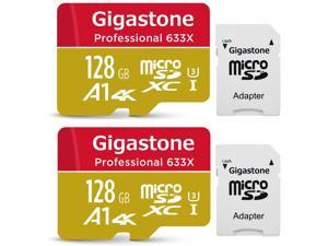 128GB 2-Pack Professional A1 4K Micro SD Card SDXC UHS-I U3 C10 Class 10 Nintendo Switch Compatible 4K UHD Video 100MB/s