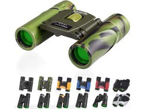 Adults Compact Travel Binoculars: Mini Small Size Lightweight Best Outdoor Theatre Tactical Hiking Kids Concert Sports Camping Low-Light Night Vision Waterproof