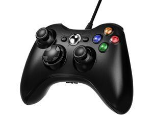 Xbox 360 Wired Controller Wired Xbox 360 Game Controller USB Gamepad Joypad Joystick Controller with Dual-Vibration and Trigger Buttons for Xbox 360 Slim PC Windows 7/8/10 (Black)