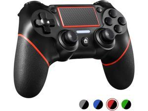 PS4 Controller Wireless Gamepad for Playstation 4/Pro/Slim/PC(7/8/8.1/10) with Motion Motors and Audio Function Mini LED Indicator USB Cable and Anti-Slip ??Upgraded Version?? RED