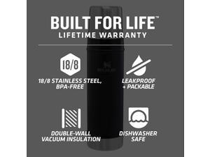 Classic Legendary Vacuum Insulated Bottle Matte Black 20oz