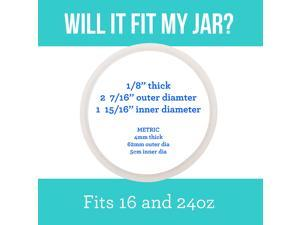 3-Pack of Thermos (TM) Food Jar 16 and 24 Ounce -Compatible Gaskets/O-Rings/Seals by - BPA-/Phthalate-/Latex-Free - Replacement for 16 and 24 Ounce Containers