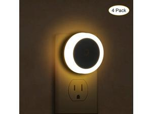 Night Light Plug in with Dusk to Dawn Sensor Automatic LED Night Lights Soft White 0.6W 60LM LED Plug-in Nightlight Suitable for Bedroom Bathroom Stairs Hallway Kids Room 4 Pack