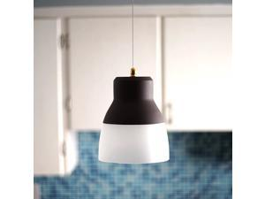 Its Exciting Lighting IEL-5891 Glass Pendant Bronze IR LED Light With Bronze Hardware And Frosted Glass Shade Battery Operated With 24 Included LEDs