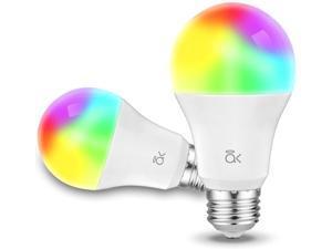 Smart Light Bulb AL Abovelights A19 E26 9W WiFi LED Smart Bulb Works with Alexa Echo Google Home & Siri (No Hub Required) Warm White 60W Equivalent ETL Listed (2-Pack)