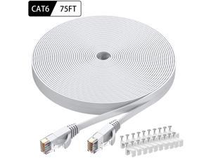 10 Pack UL Listed 10-Pack 10 Feet Cat 6 Ethernet Cables Multi High Speed Multi Color Flat Internet Network LAN Patch Cable Cat6 Utp 10Ft RJ45 Pure Copper