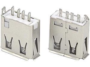 XLX 100PCS USB Type A Standard Port Female Solder 4Pin Plug Soldering Jacks Connector