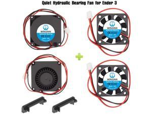 WINSINN 24V 40mm Fan Blower for Cooling Ender 3 / Pro Turbine Turbo 40x10mm 4010 DC Brushless Hydraulic Bearing with Air Guide Parts - Quiet (Pack of 4Pcs)