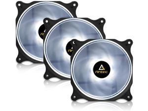 Antec 120mm RGB LED Case Fan White LED Case Fan High Performance PC Fan 4-pin Molex Connector F12 Series 3 Packs