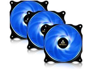 Antec 120mm Case Fan PC Fans Blue LED PC Case Computer Case Fan 4-pin Molex Connector F12 Series 3 Packs