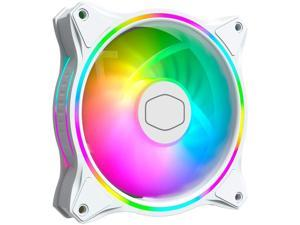 Cooler Master MasterFan MF120 Halo White Edition Duo-Ring Addressable RGB 120mm Fan with 24 Independently-Controlled LEDs, Absorbing Rubber Pads, PWM Static Pressure for Case & Liquid Radiator