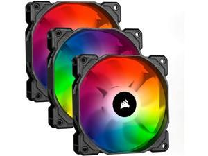 Corsair iCUE SP120 RGB Pro Performance 120mm Triple Fan Kit with Lighting Node Core, Model:CO-9050094-WW