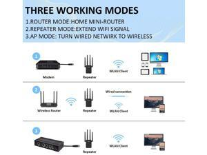 1200Mbps WiFi Range Extender Carantee Wireless Signal Repeater Booster 2.4 /& 5GHz Dual Band 4 Antennas 360/° Full Coverage to Provide a Stable Network for Online Working and Enjoy Devices