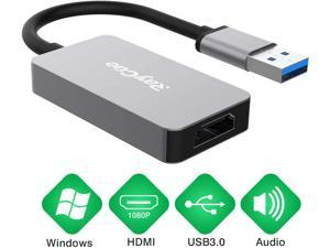 USB to HDMI Adapter Cable with Audio for Mac OS Windows 10//8//7//Vista//XP 6FT USB 3.0 to HDMI Male HD 1080P Monitor Display Video Adapter//Converter Cord.