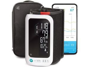 GreaterGoods All-in-One Smart Blood Pressure Monitor Pack Upper Arm Cuff Cordless Wireless Rechargeable Automatic and Bluetooth (Upper Arm Cuff)