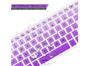 [2 PCS] Lapogy Keyboard Cover for hp Pavilion 27 All in One Pc27 Xa0055Ng/0370Nd24 inch24 Xa0002A/0300Ndhp Wireless Keyboard Combo 800hp Pavilion All in One AccessoriesGradualpurple+Clear