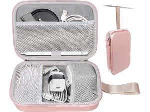 MacBook Accessories All in one Case by CaseSack Customized Pockets for MagSafe 2/MagSafe Magic Mouse 2/1 Apple Pen 2/1 iPhone Charger Qi Wireless Charger and USB C Hub Type C Hub (Rose Gold)