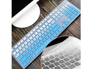 [2 PCS]Lapogy Keyboard Cover for hp Pavilion 27 All in One Pc27 Xa0055Ng/0370NdPavilion 24 inch24 Xa0002A/0300Ndhp Wireless Keyboard Combo 800hp Pavilion All in One AccessoriesGradualblue+Clear